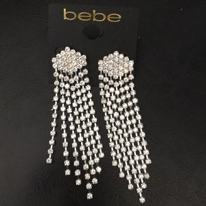 Elegant bebe Waterfall Earrings Diamond shape Stud